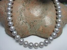 Perlenstrang silbern 10mm rund sehr schöne Qualität Modell 2