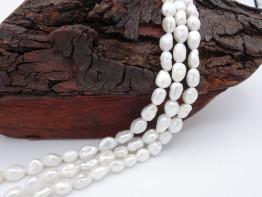 Preiswerte Perlen, Strang Keshiperlen mit Toplüster Modell 65
