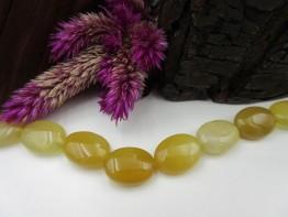 Quarzedelstein gelb, große Oliven ca. 16x13mm