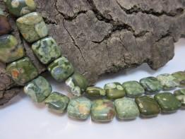 Rhyolith grün polierte Scheiben 14x14 schönste Maserung