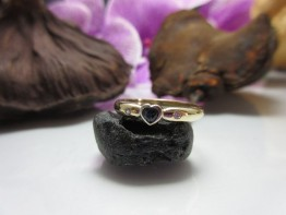 Fingerring 333er Gold mit Saphir Nr.8