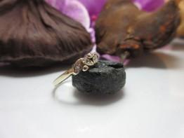 Fingerring 333er Gold mit 3 Diamanten Nr.4