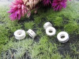 Ring Silber mattiert 925er 8x3mm 2 Stück Modell ZS94