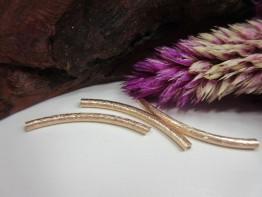 Röhrchen rosefarben 925er Silber 2 Stück Modell ZS151
