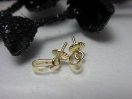 Schlaufe 585er Gold, mit Teller für Perle -- GZ35