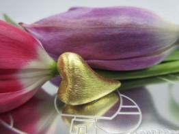 Schmuckteil vergoldet Herz 23x17mm 925er 1 Stück ZS70