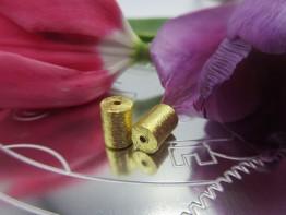 Schmuckteil vergoldet Walze 8x6mm 925er 1 Stück ZS49