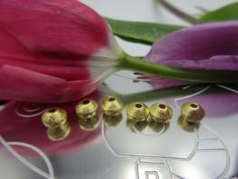 Schmuckteile vergoldet Linsen 6x4,5mm 925er 3 Stück ZS46