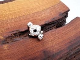 Schnepperschließe 925er Silber mit Steinbesatz KS93