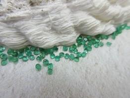 Smaragd facettiert Russland / Ural Durchmesser 2,3mm