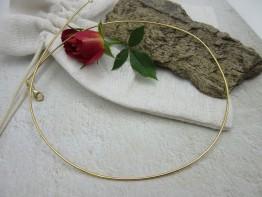 Spiralcollier aus 925er Silber hart vergoldet