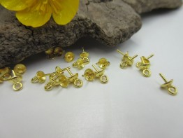 Stiftösen aus 925er Silber vergoldet 2 Stück DZ152