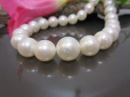 Südseeperlen Halskette, echte Südseeperlen mit 9-12,5mm