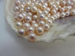 Süßwasserperle einzeln, ungebohrte AAA-Grade Perle 6,5-7,0mm