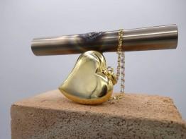 Vergoldetes Herz in 925er Silber Länge total 50mm