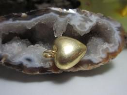 ZS34 -- Ein Zwischenteil Herz 925er vergoldet mit Öse