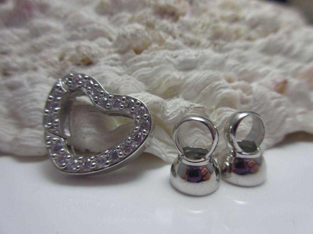 DZ161 2 Stück Ohrmuttern aus 925er Silber mit großem Teller